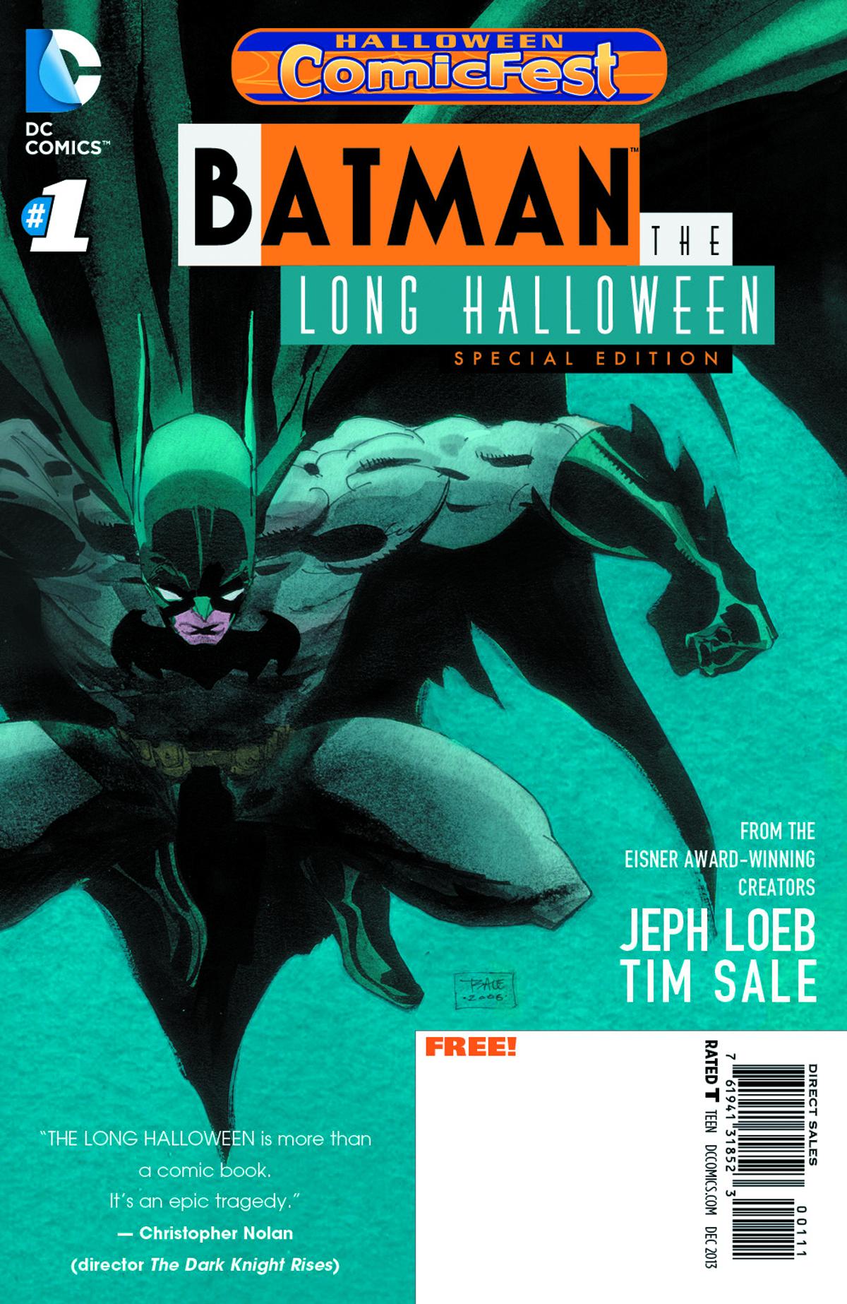 AUG130024 - HCF 2013 BATMAN THE LONG HALLOWEEN #1 SPEC ED ...