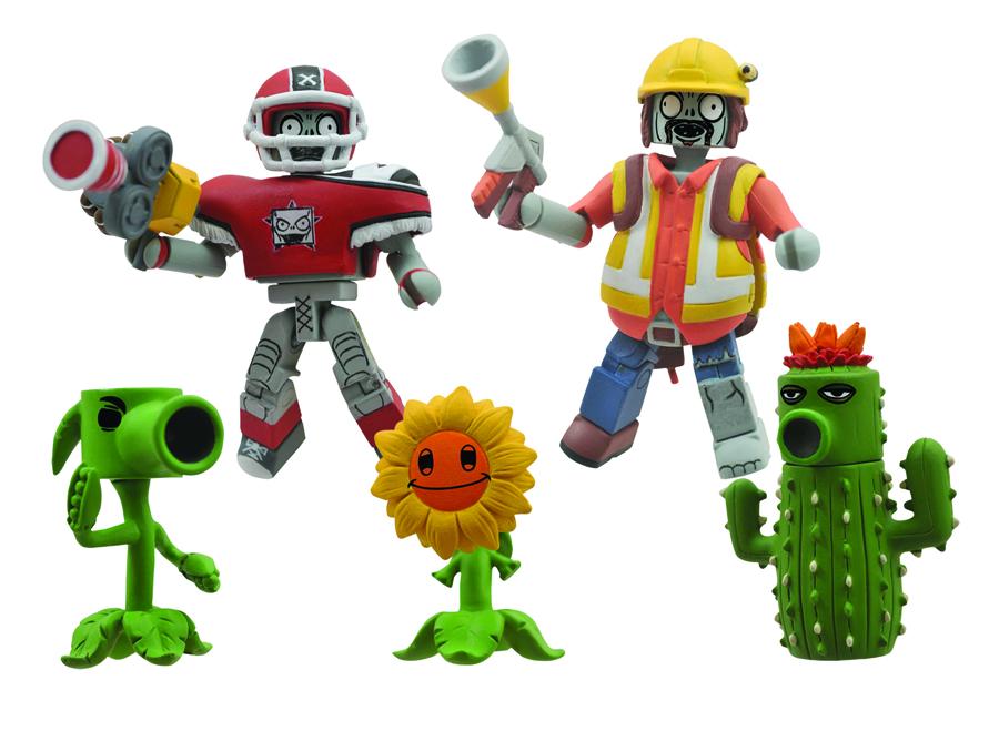 Plants vs Zombies Minimates Garden Warfare Series 2 Box Set