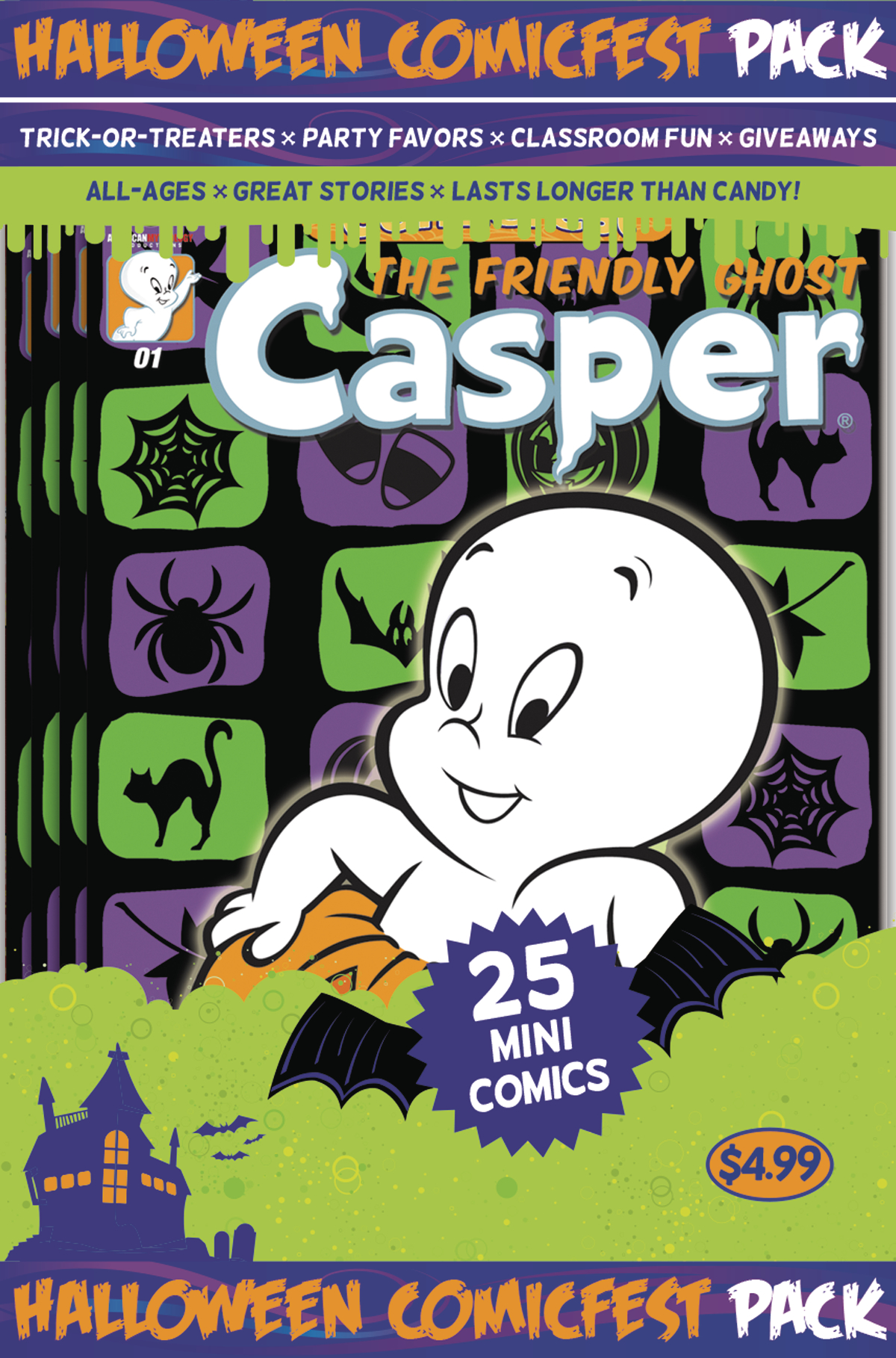 HCF 2017 CASPER THE FRIENDLY GHOST MINI COMIC POLYPACK