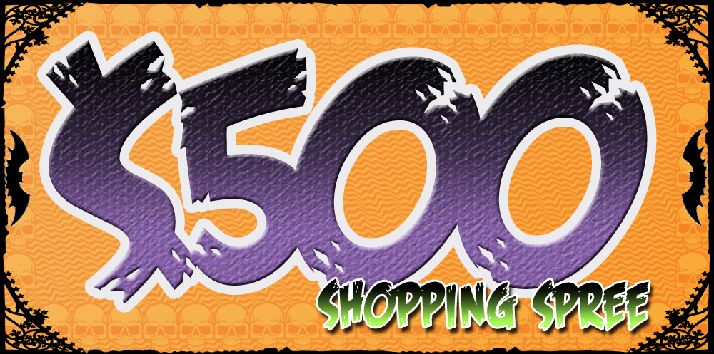 two grand prize winners will be randomly selected from all contest entries to win a 500 shopping spree at a halloween comicfest participating comic shop - Halloween Contest Prizes