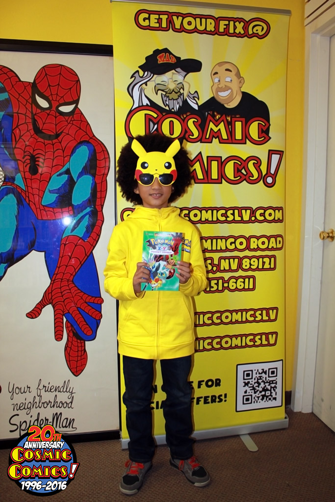 kids winner of a 500 shopping spree at a halloween comicfest participating comic shop