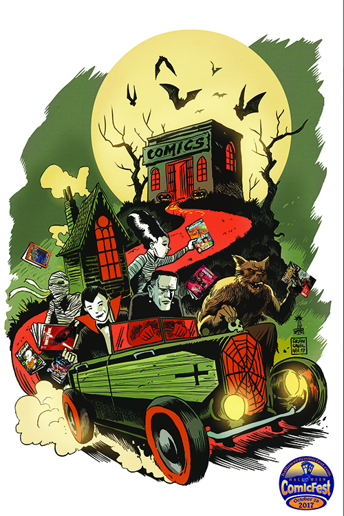 halloween comicfest is proud to reveal the artwork created by eisner award winning artist francesco francavilla afterlife with archie black beetle for